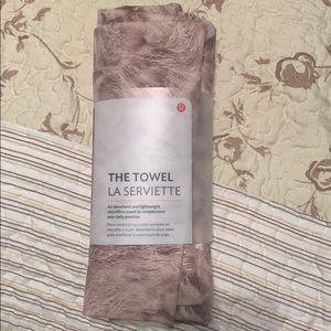Brand new LULULEMON large yoga towel
